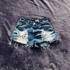 LF Furst of a Kind Ripped Jean Shorts